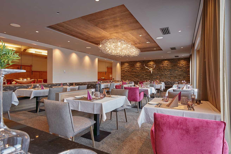 Restaurant für Hausgäste unseres 4 Sterne Wellnesshotel